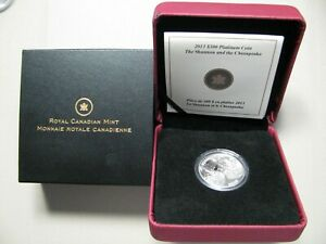 2013 Proof $300 1oz .9995 platinum Shannon Chesapeake War 1812 Mintage just 231!