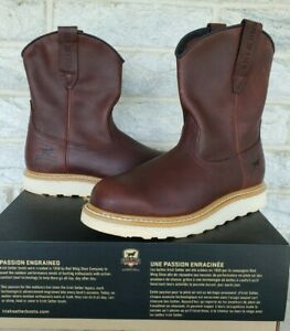 Red Wing Irish Setter Mens Ashby Wellington Work Boots Size 9.5 D Brown 83909