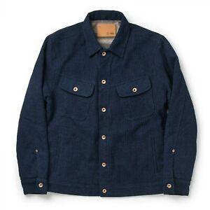 WORN 3x Taylor Stitch Indigo Sashiko Long Haul Jacket, Size 42 (fits like L)