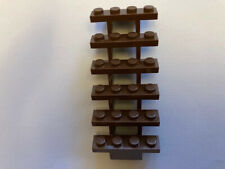 Lego Stairs x1 Brown 7x4x6 straight