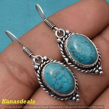Plated Fashion Jewellery Earring Er-32143 7.5 Gm Turquoise 925 Sterling Silver