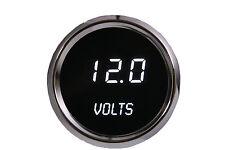 52mm 2 1/16 in Digital VOLTMETER Intellitronix WHITE LEDs! Chrome Bezel Warranty
