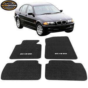 Fits 99-06 BMW E46 M3 Logo OE Front Rear Floor Mats Carpet Nylon