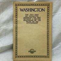 Vintage Baltimore & Ohio Railroad Brochure to Washington Souvenir