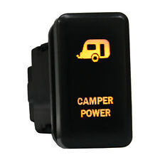 12V Push switch 865O CAMPER POWER dual LED amber ON/OFF For Toyota Tundra Tacoma