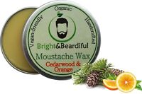 Cedarwood & Orange Moustache Wax Strong Hold for Styling, Twists & Curls 15ml