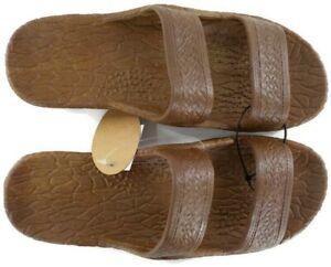 Pali Hawaii Jesus Sandals Jandals Light Brown SZ 7 Unisex Men Women Slippers NWT