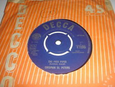 CRISPIAN ST PETERS THE PIED PIPER / SWEET DAWN decca 12359 EX.+...45rpm pop