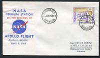 BERMUDA: (18302)  AP 4 1968 Nasa APOLLO FLIGHT cancel/cover