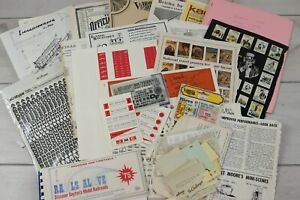 Large Lot Model Railroad HO Scale Decals Ephemera Paperwork Vintage 1970s-80's