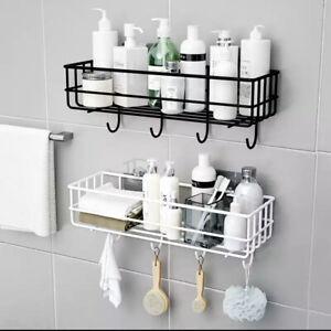 Wall Mounted Bathroom Shelves Floating Shelf Shower Hanging Basket Shampoo