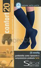 Gambaletto Uomo riposante Lycra compressione graduata Forte mmHg 20 Silca 4113