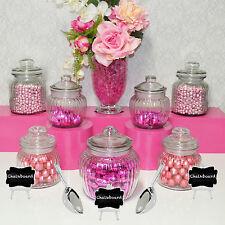 Candy Jar Lolly Buffet 7 x Jars, 2 x Scoops, 3 x Chalkboards Wedding Table Serve