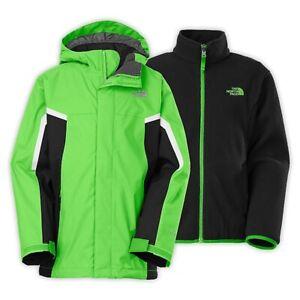 New Boys North Face Nimbo Triclimate 3-in-1 Jacket Coat Krypton Green XL $140
