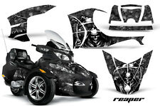 AMR Racing Can Am BRP RTS Spyder Graphic Kit Wrap Street Bike Decal REAPER BLK