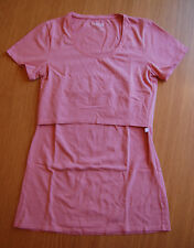 Boob Design Short Sleeve Nursing Tee, Pink Blush, Size S