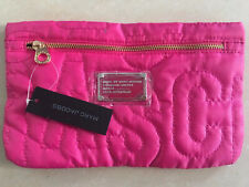 HOT SALE MARC BY MARC JACOBS NYLON ROSE RED CASUAL CLUTCH COSMETIC BAG HANDBAG