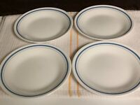 "SET OF 4 - CORNING CORELLE - INDIGO - 6 3/4"" BREAD BUTTER SALAD DESSERT PLATES"
