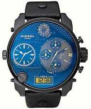 Diesel DZ7127 SBA Blue Black Black Leather Men's Watch