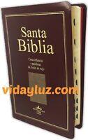 BIBLIA LETRA GRANDE REINA VALERA 1960 TAMAÑO MANUAL IMI PIEL MARRON CON INDICE