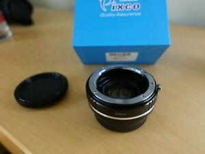 0.72x Focal Reducer Speed Booster Nikon F G lens to Fujifilm X Adapter FX FUJI
