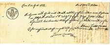 W166-LOMB.VENETO-CAMBIALE DA COMO 75 CENT 1822