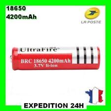 Piles Batterie  Ultrafire 18650 rechargeable  3.7V 4200mAh Li-ion GZ® PRO