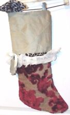 "Gourgous 25"" Vintage Christmas Stocking Hanging Owl, Heavy Material ""NICE"""