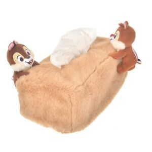 Disney Chip & Dale Tissue Box Cover Fluffy cover import from JP NEW
