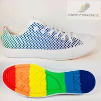 Converse Chuck Taylor All Star LOW OX White Blue Orange Yellow Pride LGBT