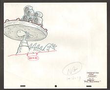 Flintstones Animation Art - Dinosaur And Stage Element - Scene 7 Rock Rockstone