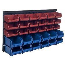 Plastic Rack Wall Mounted Box 30 Drawers Storage Organizer Rack Garage Tools Bin