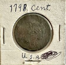 Genuine- 1798- U.S. Large Cent, Metal Detector Find, See Other Coins & Gold