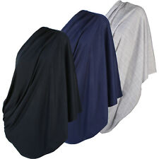 3pk Infinity Nursing Scarf Breastfeeding Nursing Cover Cotton Grey Navy & Black
