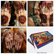 6 X New Fresh Quality Kaveri Natural Henna Mehndi Tattoo Pen Cone Darkest Brown