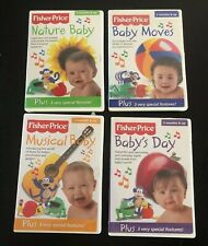 Fisher Price Development Dvd Lot- Baby Moves, Nature Baby, Musical Baby, Day