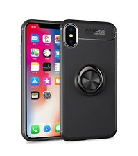 For iPhone X XR XS Max/11 Pro Max/7 8 Plus Metal Magnetic Ring Holder Stand Case