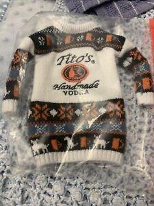 Titos Handmade Vodka Ugly Sweater Bottle Novelty