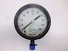 """NEW!! ASHCROFT PRESSURE GAUGE 0 TO 200 PSI, 4-1/2"""" DIAMETER, 451379ASL04L200#"""