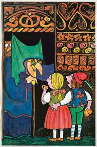 Original Vintage Poster Tomi Ungerer Hansel & Gretel Witch Fairytale Children