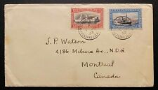 1933 FALKLAND ISLAND CENTENARY ISSUE.  1d. and 1 1/2/d. ON COVER TO CANADA.