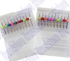 Tiny 1/8 in Shank Shaft Micro Mini Pin Wire Sizes Model Small Thin Drill Bit Set