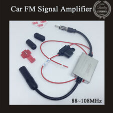 Anti-interference Radio Signal Amplifier Car Auto Antenna FM Booster 88~108MHz