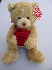 Gund Teddy Bear Destiny holding red gift box Nwt