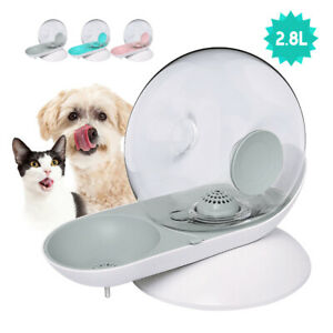 2.8L Dog/Cat Water Bowl Dispenser Pet Automatic Water Fountain Drinking Bottle
