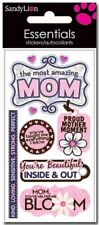 Scrapbooking Stickers Sandylion Crafts Amazing Mom Strong Perfect Title Flowers