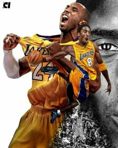 KOBE BRYANT Poster Wall Art Home Photo Print 24 x 36 inch Q