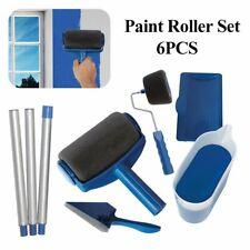 6 outils Pro Paint Roller Brush rouleau de peinture avec réservoir kit peinture