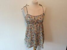 TopShop Women's Floral Semi Fitted Vest Top, Strappy, Cami Tops & Shirts