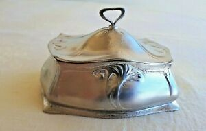 WMF Art Nouveau jam jar- butther dish with inner glass 1880-1900 Germany Marked